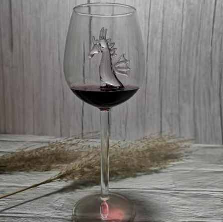 Wine Glass: dolphin, sea star or seahorse