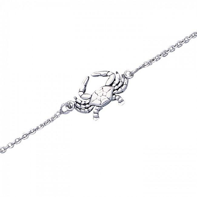 Peter Stone Silver Crab Anklet
