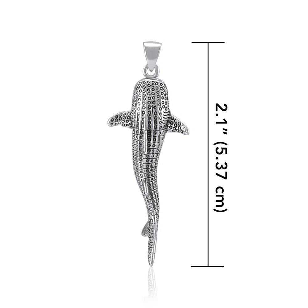 Peter Stone Small Whale Shark Silver Pendant