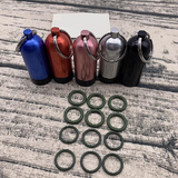 Key Chain: Aluminum Mini Scuba Diving Tank with 12 O Rings