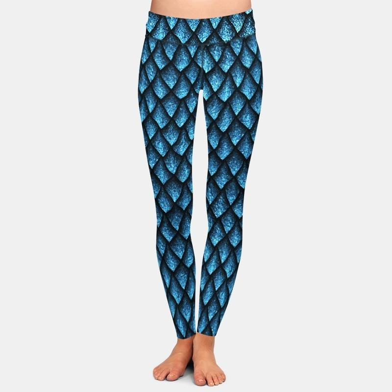 Leggings: Fish Scales Pattern