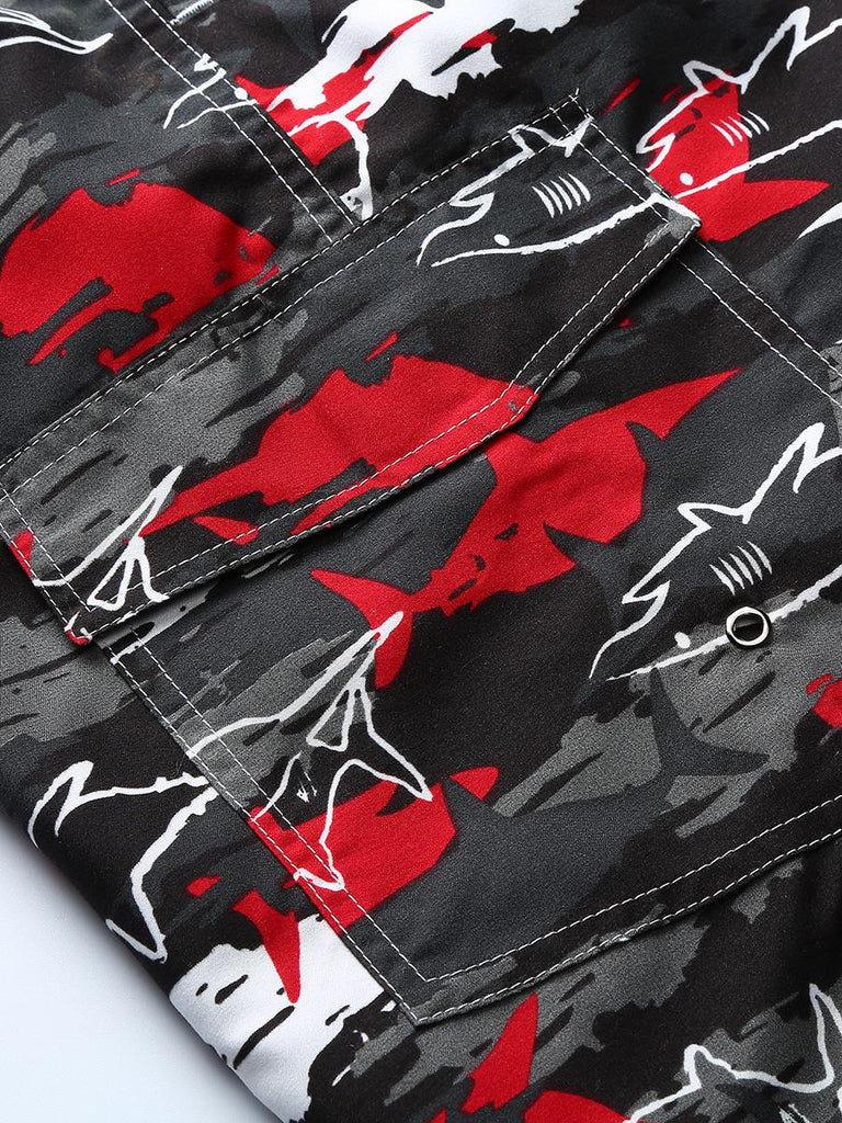 Swimwear Shorts Men: Shark Print