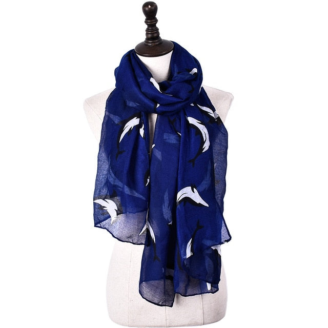 Scarf: Sea Dolphin Design