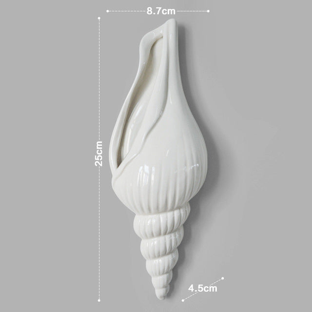 Wall flower decoration: Shell pattern - three forms