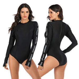 Black Rashguard Women: Long Sleeve