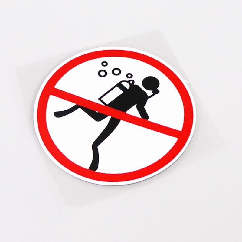 Toilet Sticker: Diving Prohibited