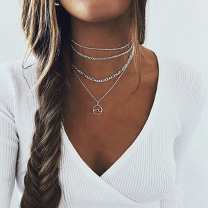 Silver Necklace: Wave