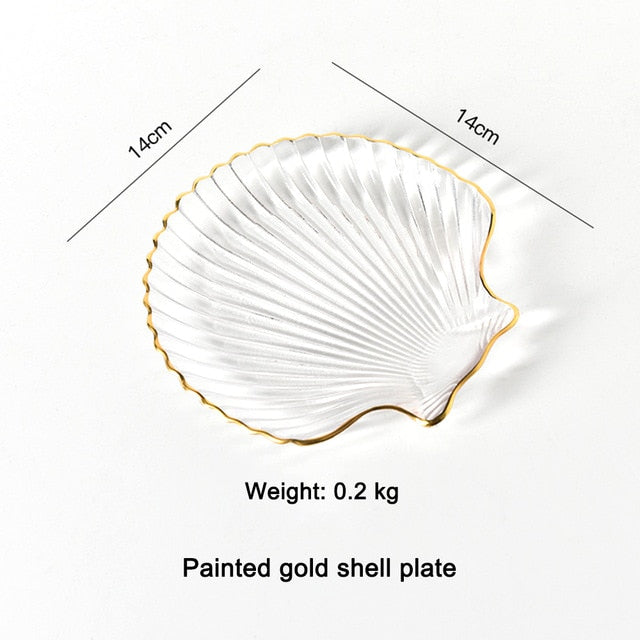 Glass Plate or Fruit Plate: Sea Shell Pattern