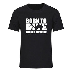 T-Shirt Men: Born to Dive, Forced to Work