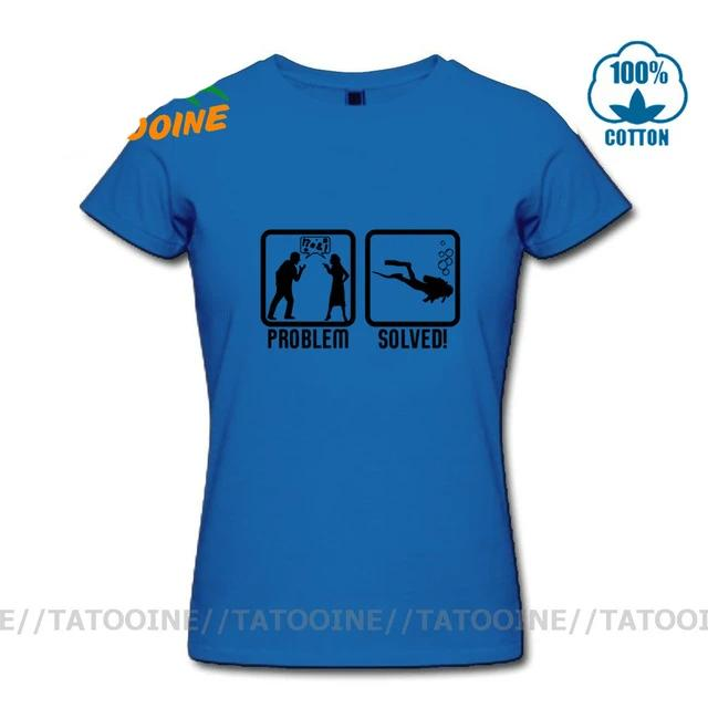 T-shirt Women: Scuba Diving, Problem Solved