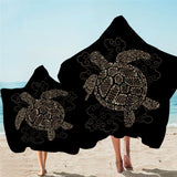 Turtle Towel with Hoodie: Kids & Adults