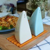 Pair Of Salt & Pepper Ceramics: Shark Shaped