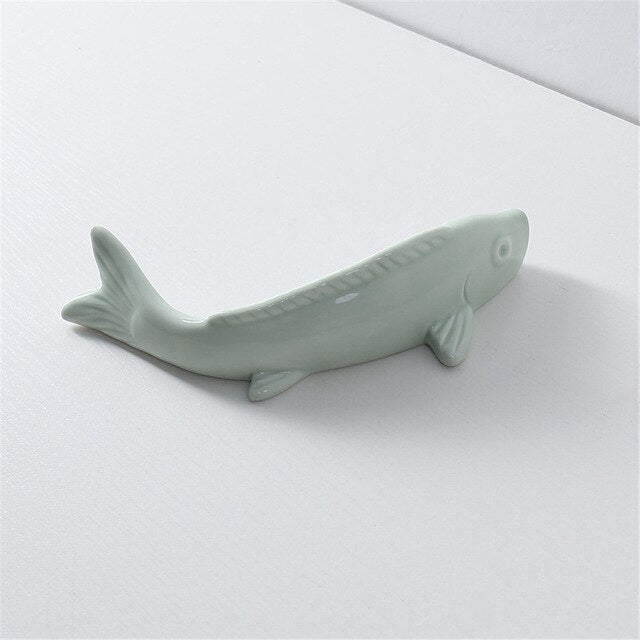 Minimalist Shark Shape Ceramic Flower Holder