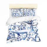 Bedding Sheet: Various Whales