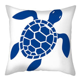 Pillow case: Navy Blue Marine Life
