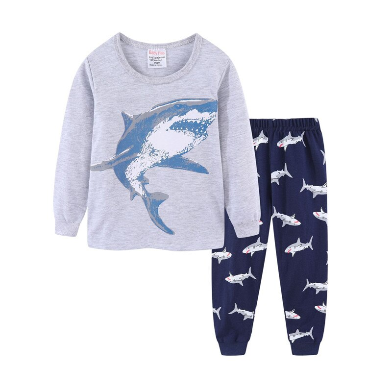 Boys Pyjamas: Shark Pattern (18 months -7 years)
