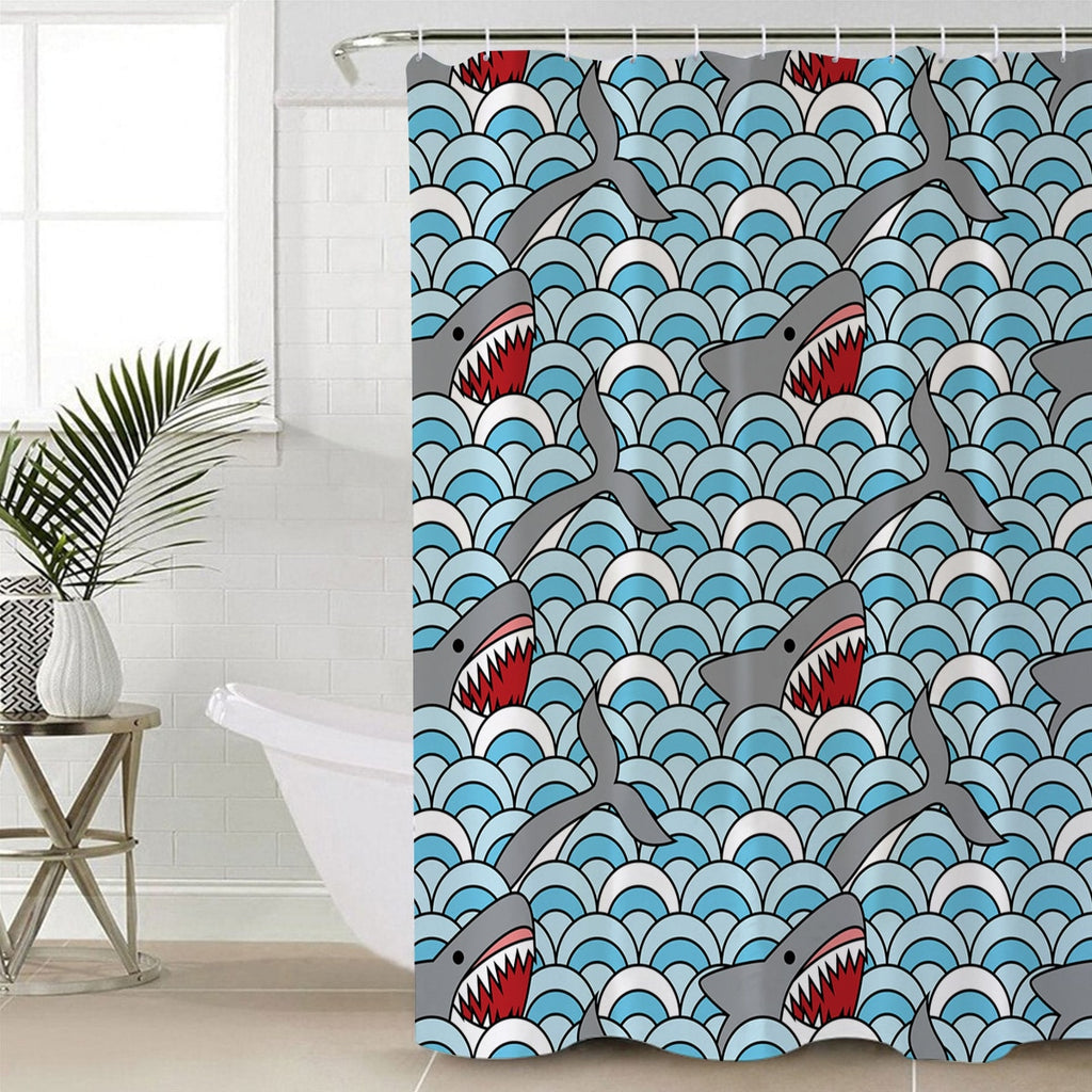 Shower Curtain: Shark Bite