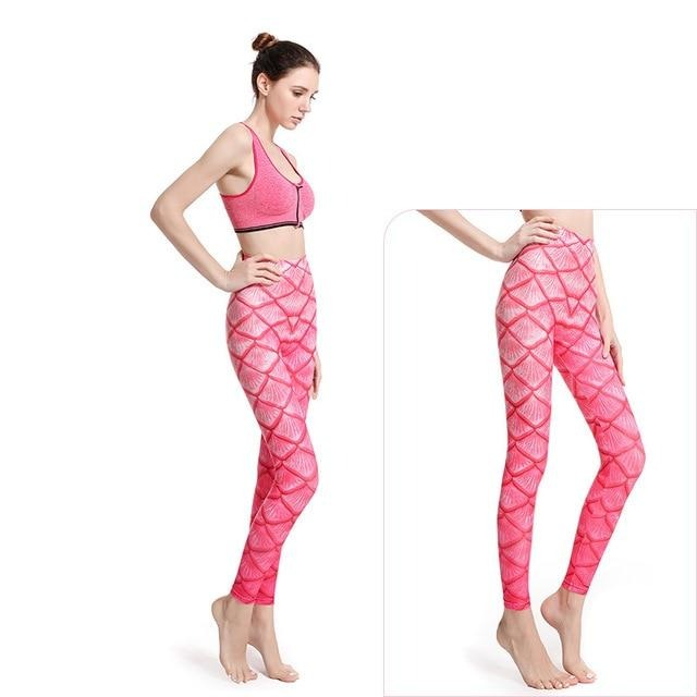 Women Leggings: Mermaid Design