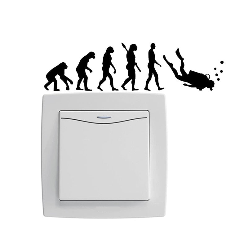 Wall Sticker: Evolution To Dive