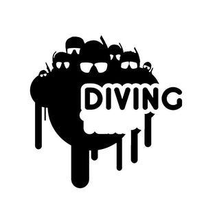 Car Sticker: Funny Fashion Scuba Diving Car Stickers