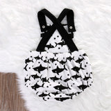 Baby Romper with sharks: sleeveless