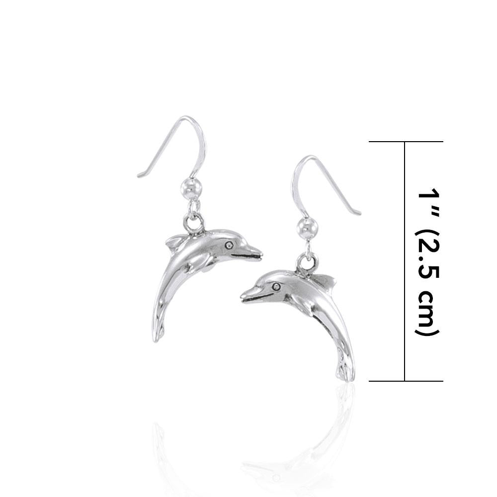 Peter Stone 925 Real Silver Dolphin Earring