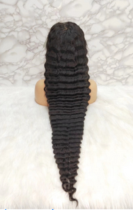 "26 "" Malaysian Virgin Hair Deep Wave Wig"