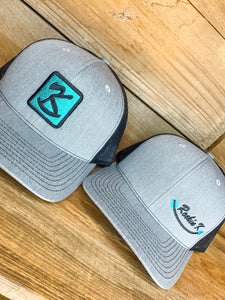 Heather Grey / Black Logo Hat