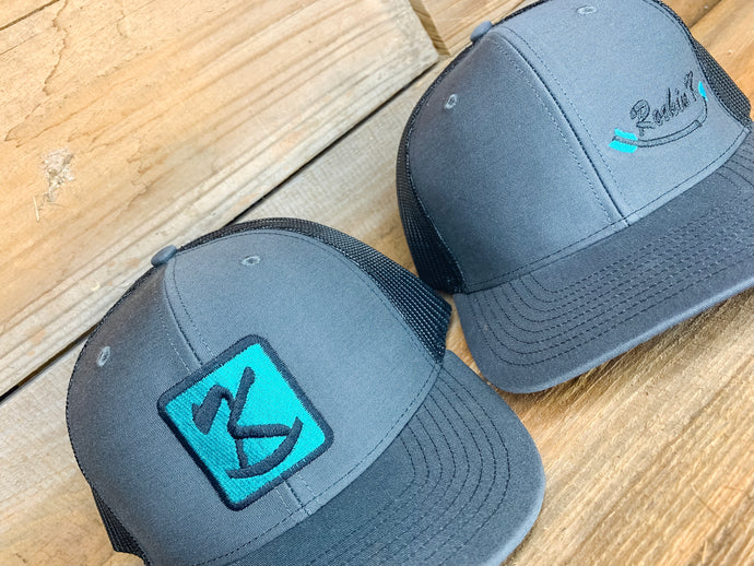 Logo Hat // Charcoal Grey front Black back