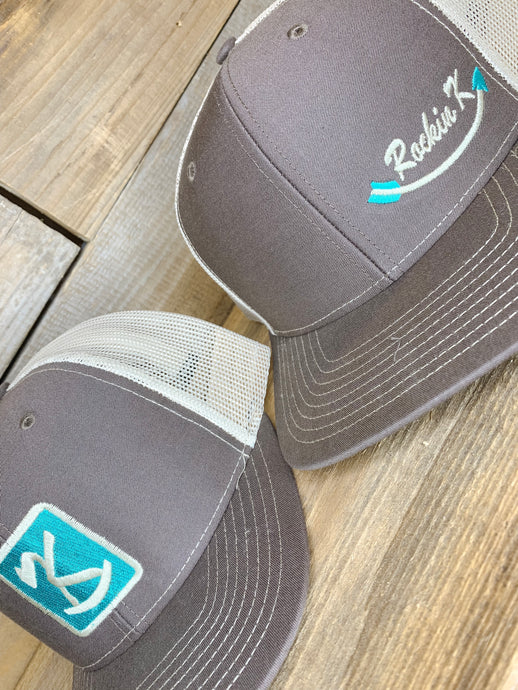 Rockin' Logo Hats // Brown front Tan Back