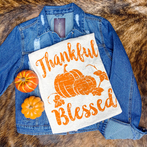 Thankful and Blessed Fall Graphic Tee