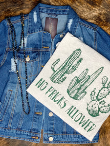 No Pricks Allowed - Cactus Graphic Tee