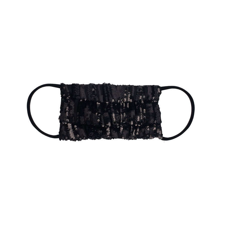 Glamorous Black Sequined Facemask