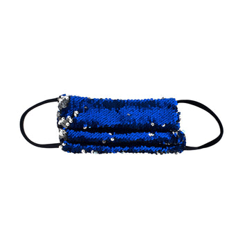 Glamorous Blue Sequined Facemask