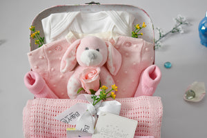 WARM and CUDDLY Knitted Pink Baby Hamper