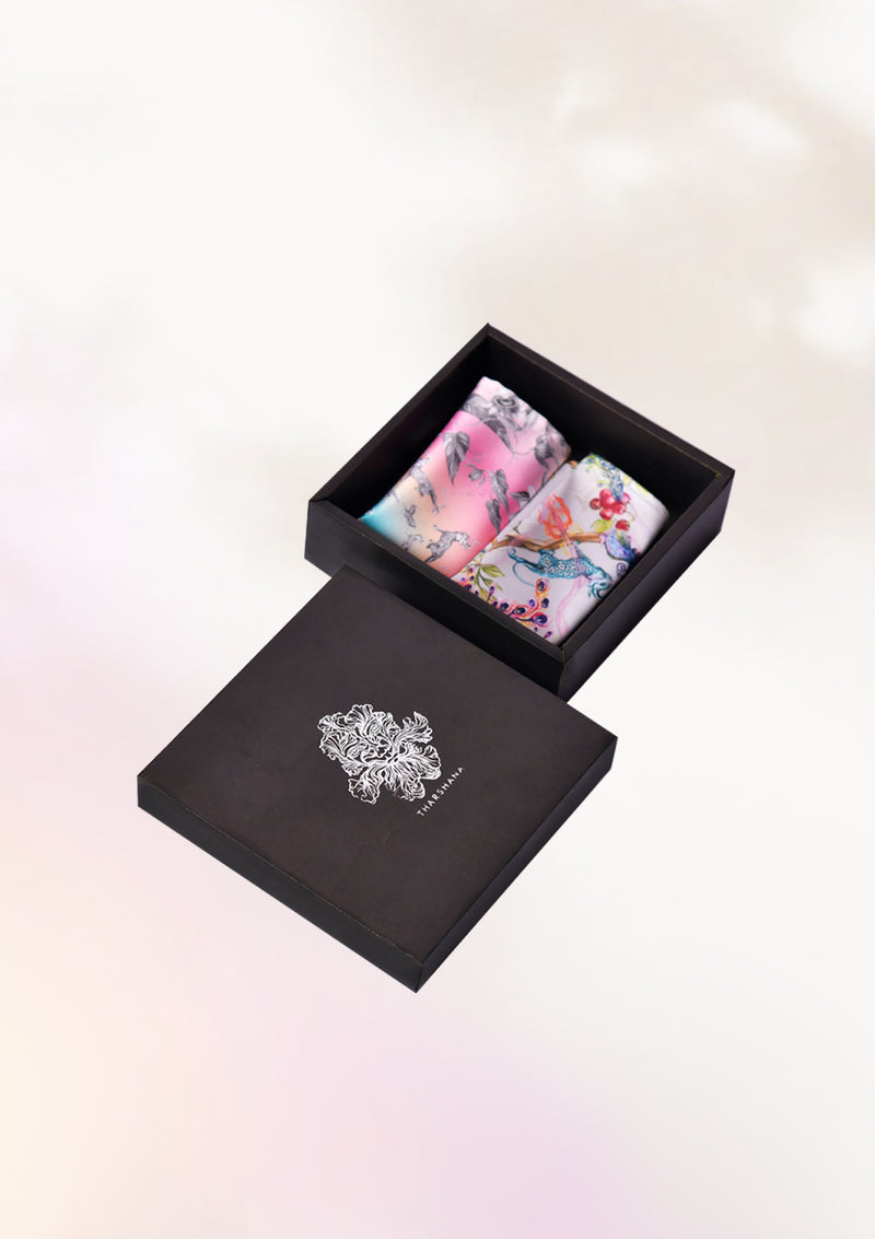 Whimsical Pocket Square Gift Box