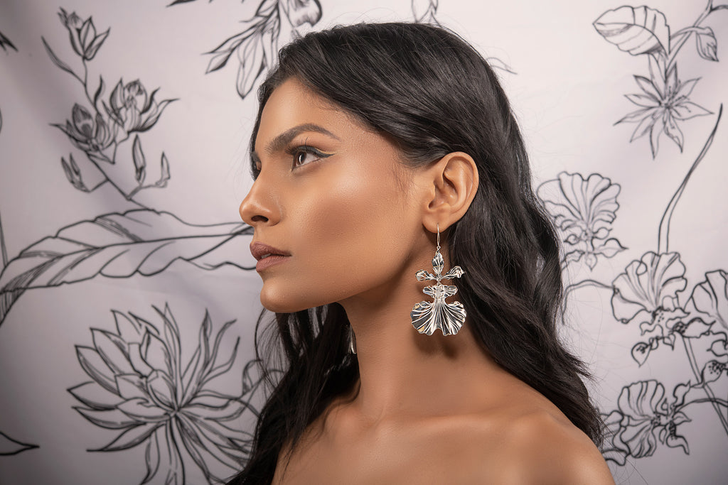 Kandyan dancer orchid earring