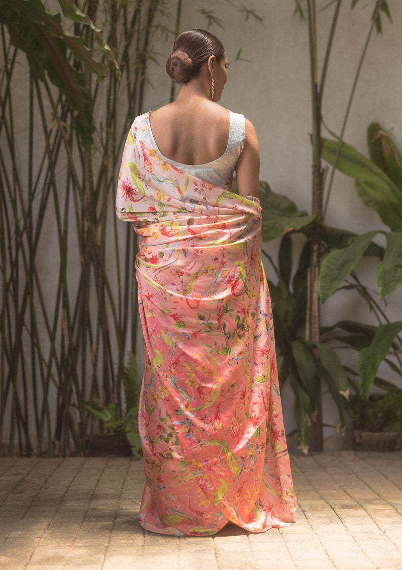 Mythical Ombré Peach Saree