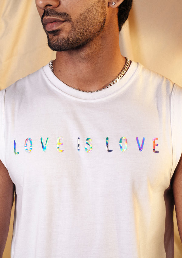 Love is Love White Arm Cut