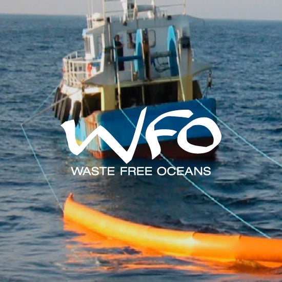 We've teamed up with Waste Free Oceans, an NGO  that works with local fishermen  who collect used plastic fishing nets, ropes, and trawls from the ocean.
