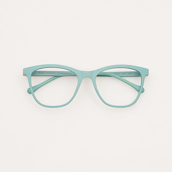 Frames created using recycled ocean based plastics.