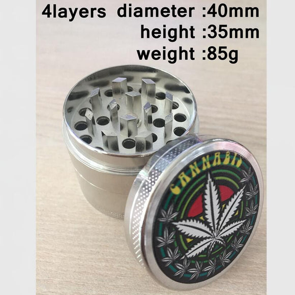 40mm Metal Herb Tobacco Grinder for Smoking Pipe Cigarettes Cigar Hookah Water Pipe Narguile Chicha Smoke