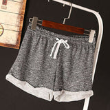 Women's Shorts HotPants Casual Running Sports Shorts Gym Female Lady Solid Jogging Waistband Summer Clothing Fashion