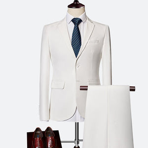 FavoritePlugDiscount- suit Male 3 Piece Set Business Men's Suits Blazers Large Size Boutique Suit Slim 2020 High-end Formal Fit Party Wedding Regular