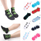 High Quality Anklet Socks Marijuana leaf Casual Short Weed Sock Men Women Cotton Socks