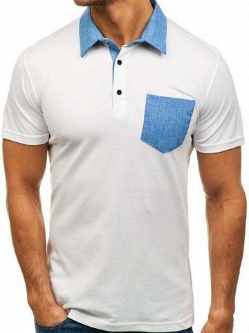 Blue Pocket Polo