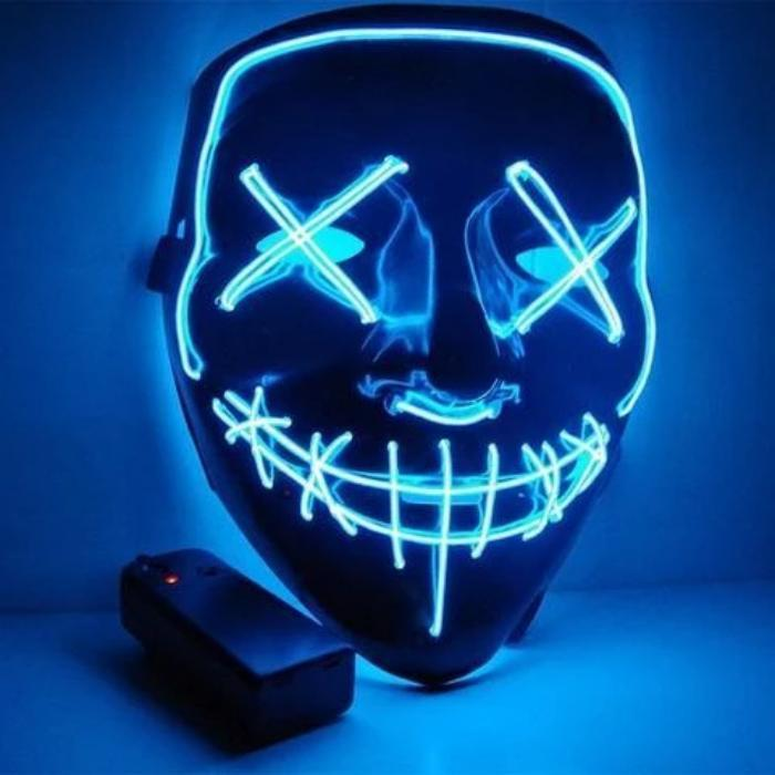 Halloween-Party & Rave Glow Purge Mask