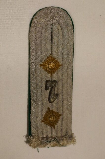 WW2 German 7th Jager Officers Single Shoulder Board