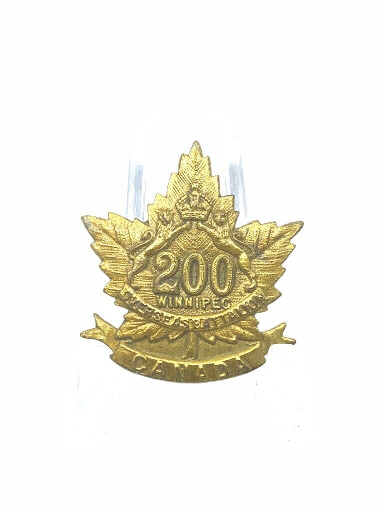 WW1 Canadian CEF 200th Battalion Collar Single UNFINISHED