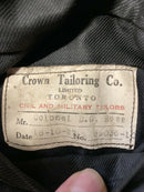 Post WW1 Canadian CEF 47th Battalion Named MC Winners Col DG Ross Tunic Jacket